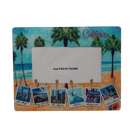 California Beach Glass Picture Frame- 4x6