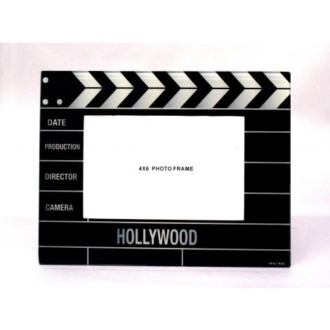 Director Clapboard Glass Picture Frame- 4x6