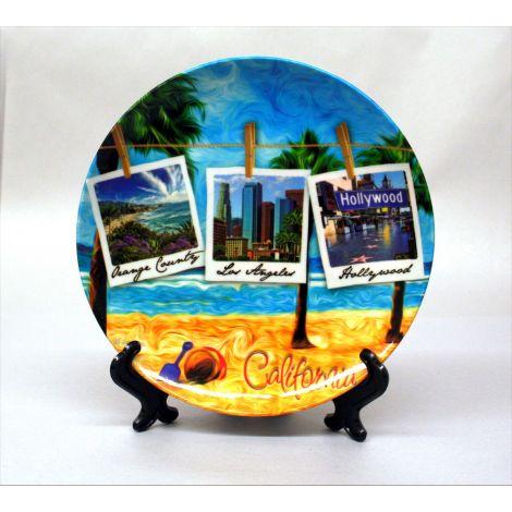California Beach Souvenir Plate