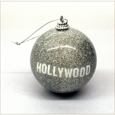 Hollywood Holiday Ornament - Silver