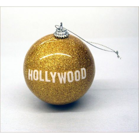 Hollywood Holiday Ornament - Gold