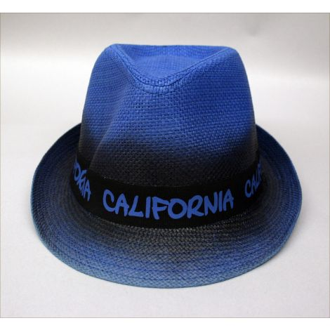 California blue trilby hat