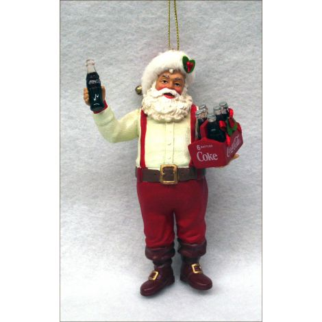 Santa Claus with Coca-Cola Bottle Christmas Ornament