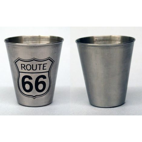 Stainless Steel Route 66 Shotglass