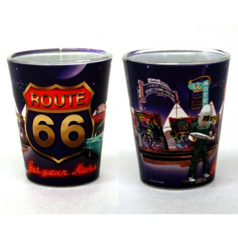 Purple Route 66 Shotglass