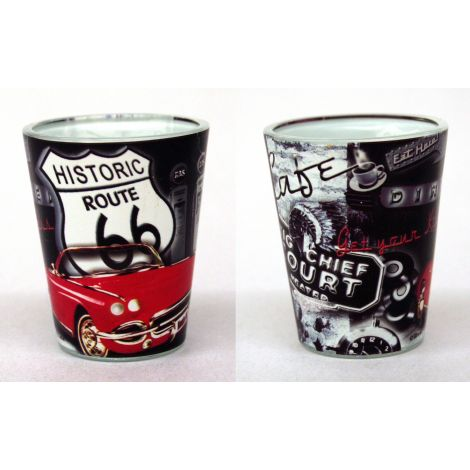 Route 66 Collage Shotglass