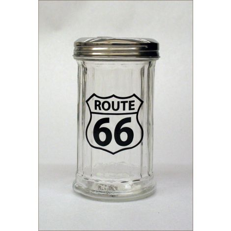 Route 66 Glass Sugar Dispenser
