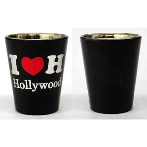 I Heart Hollywood Shotglass - Black