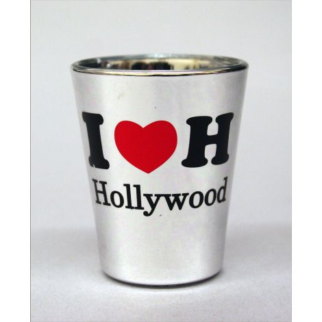 I Heart Hollywood Shotglass - Silver