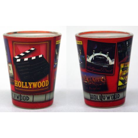 Red Hollywood Shotglass