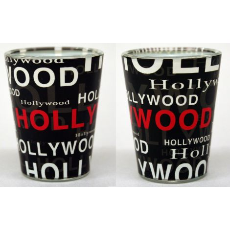 Hollywood Collage Shotglass - Black
