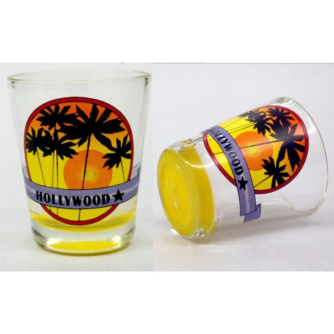 Hollywood Rising Sun Shotglass