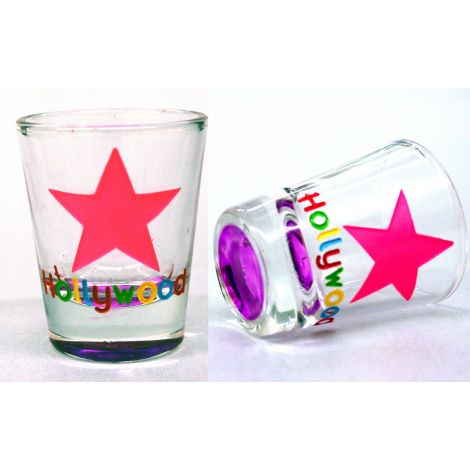 Hollywood Multicolor Shotglass - Star