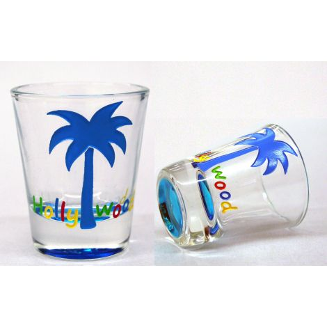 Hollywood Multicolor Shotglass - Palm Tree