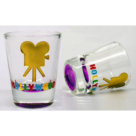 Hollywood Multicolor Shotglass - Movie Camera