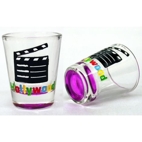 Hollywood Clapboard Shotglass - Purple