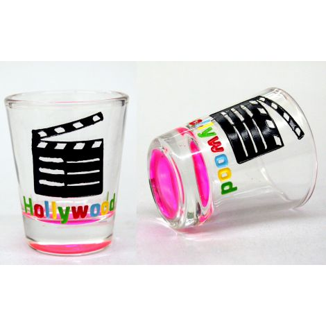 Hollywood Clapboard Shotglass - Pink