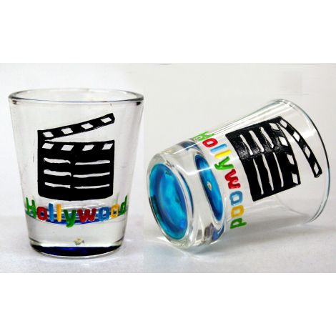Hollywood Clapboard Shotglass - Blue