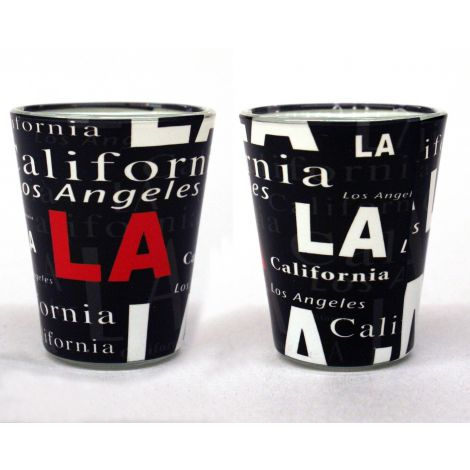 LA collage Shotglass