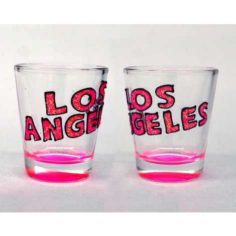 Los Angeles Shotglass Pink