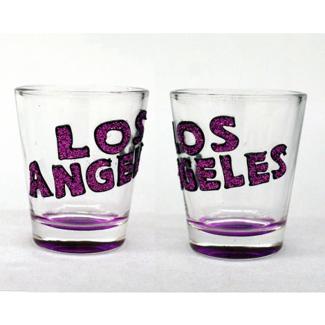 Los Angeles Shotglass Purple