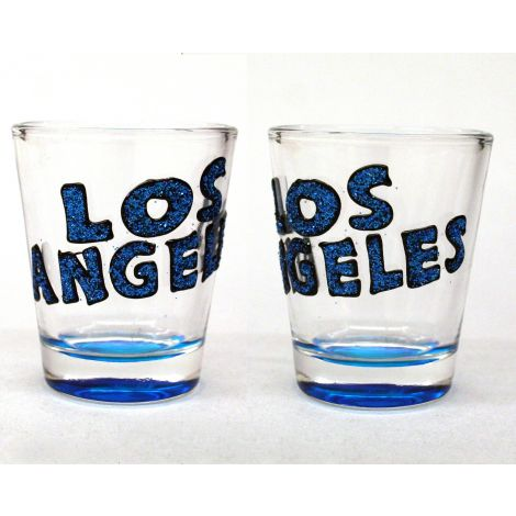 Los Angeles Shotglass Blue