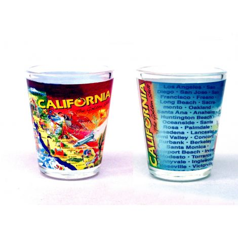 California Cities Shotglass