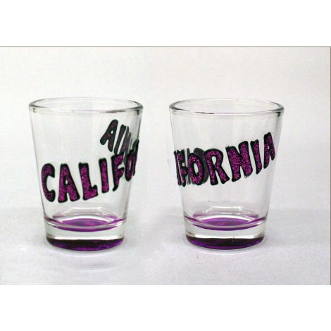 California Shotglass - Purple