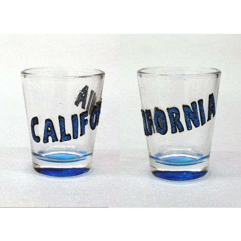 California Shotglass - Blue