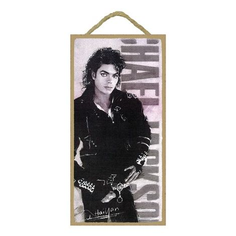 Michael Jackson Wood Plaque