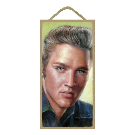 Elvis Wood Plaque