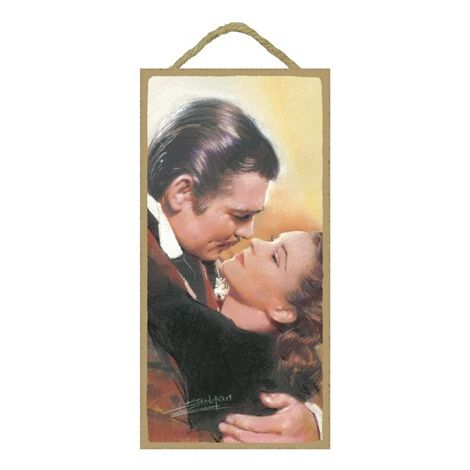 Gone with the Wind (Clark Gable & Vivien Leigh) Wood Plaque