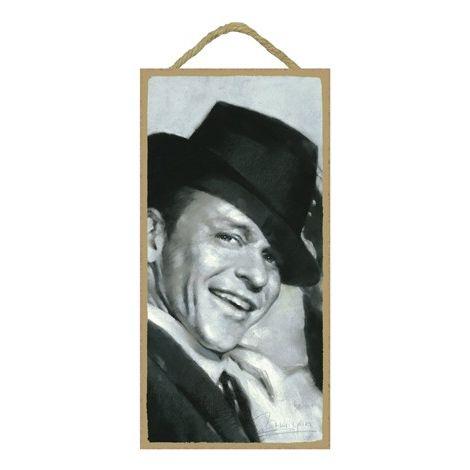 Frank Sinatra Wood Plaque