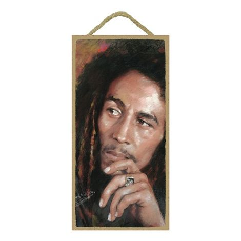 Bob Marley Wood Plaque