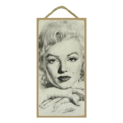 Marilyn Monroe Wood Plaque