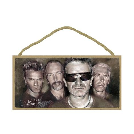 U2 Wood Plaque