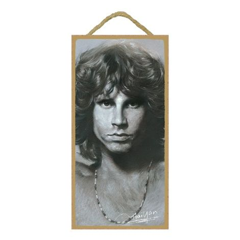Jim Morrison Wood Plaque