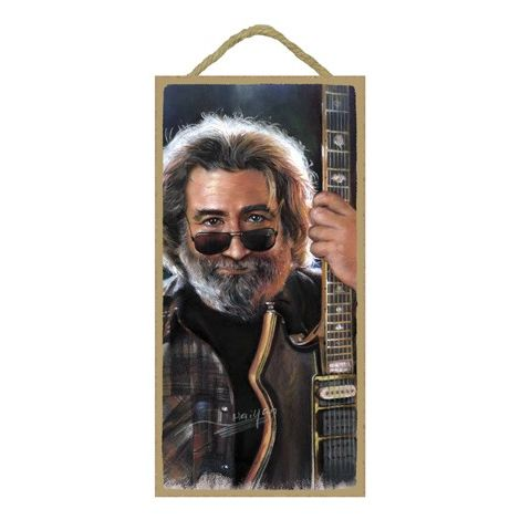 Jerry Garcia (Closeup) Wood Plaque