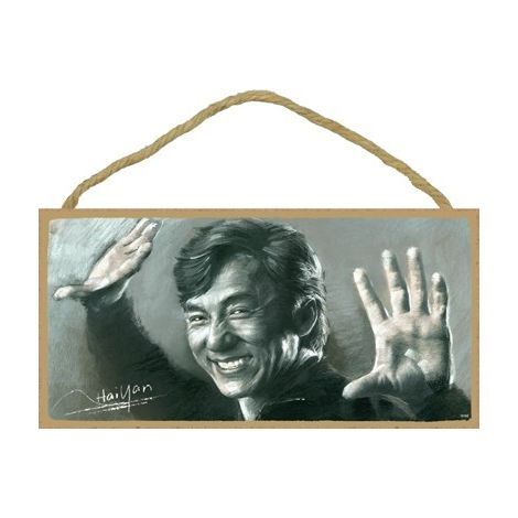 Jackie Chan Wood Plaque