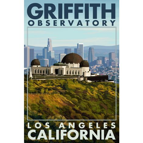 Griffith Observatory Wood Plaque