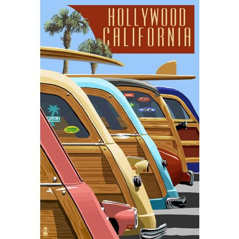 Hollywood Cars Wood Plaque