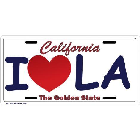 I LOVE LA License Plate