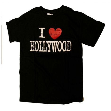 I LOVE Hollywood T-Shirt - Black