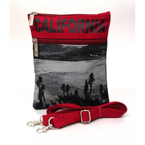 Red California Neck Wallet