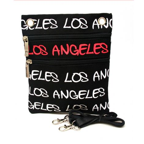 Red Los Angeles Neck Wallet