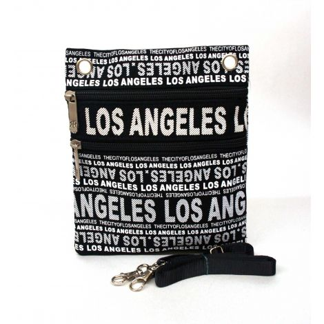 Black Los Angeles Neck Wallet