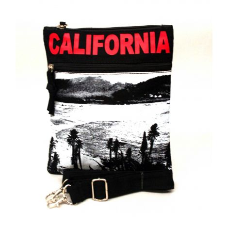 Red California Neck Wallet - Large