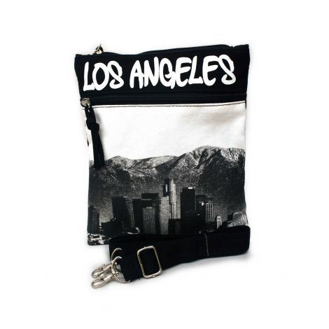 White Los Angeles Neck Wallet - Large