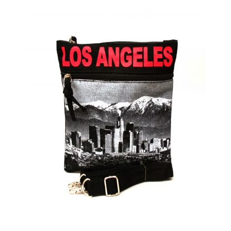 Red Los Angeles Neck Wallet - Large
