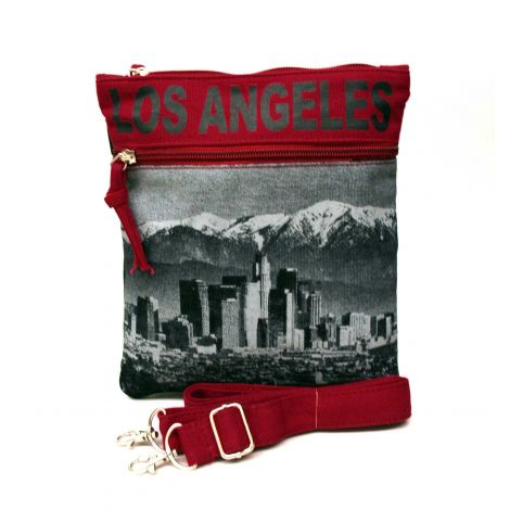 Black Los Angeles Neck Wallet - Large